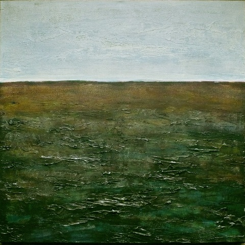 Max de Winter Bare Land Acryl op Linnen