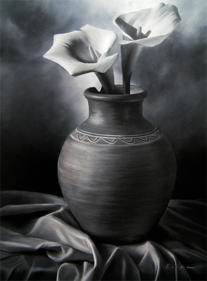 Brita Seifert Calla Lillies Pastel/Colored Pencil