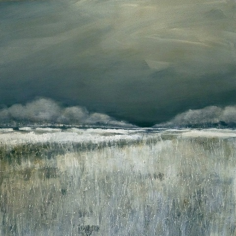 Max de Winter Frozen Land Acryl op Linnen