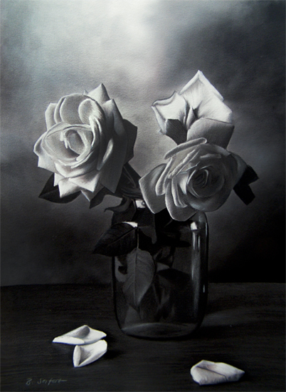 Brita Seifert Roses I Pastel/Colored Pencil