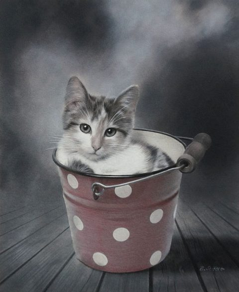 Brita Seifert Save Place Pastel/Colored pencil on paper