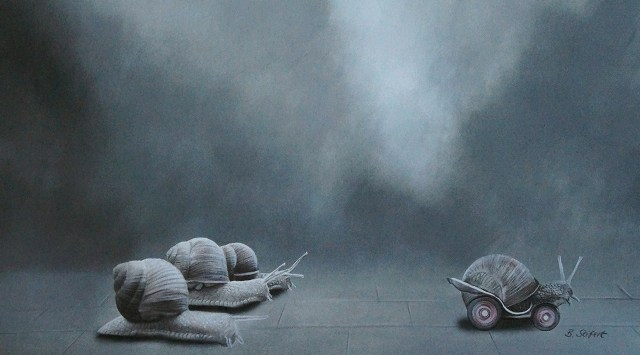 Brita Seifert Unfair Game Pastel/Colored pencil on paper
